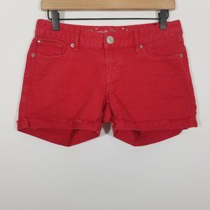 Express Red Jean Shorts Size 2